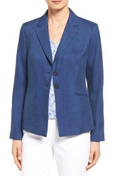 Women's Nordstrom Collection 'Rosemary' Two Button Linen Blend Twill Jacket