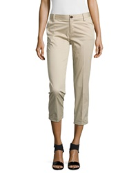 J Brand Ready To Wear Rolled Cuff Crop Trousers Khaki
