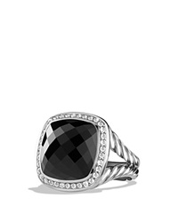 David Yurman Ring With Black Onyx And Diamonds Black Silver