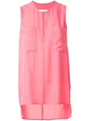 Ginger And Smart Secret Vice Sleeveless Blouse Pink And Purple