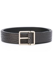 Paul Smith Gold Tone Buckle Belt Black