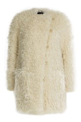 Zadig And Voltaire Faux Shearling Coat White