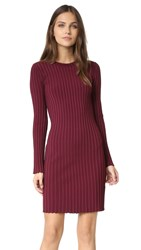 Elizabeth And James Penny Ribbed Dress Bordeaux