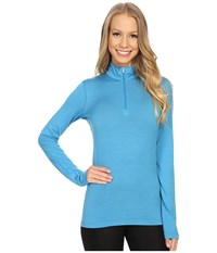 Icebreaker Oasis Long Sleeve Half Zip Cyan Cyan Women's Clothing Blue