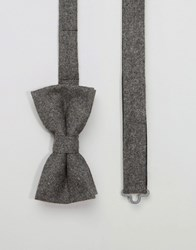 Noose And Monkey Bow Tie Wool Grey