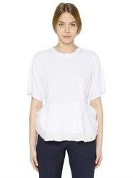 Chloe Cotton Jersey And Techno Chiffon T Shirt