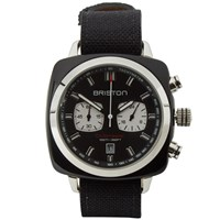 Briston Clubmaster Sport Chronograph Watch Polished Black And Black