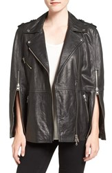 Pam And Gela Women's Leather Moto Cape