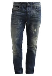 Only And Sons Avi Straight Leg Jeans Dark Blue Denim