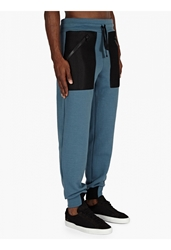 Christopher Raeburn Men's Blue Mesh Pocket Sweatpants