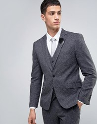 French Connection Charcoal Fleck Slim Fit Suit Jacket Grey