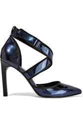 Atelje 71 Quasar Metallic Leather Pumps Blue