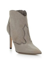 Sam Edelman Bradley Leather Stiletto Booties Grey