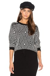 Shae Zig Zag Sweater Black