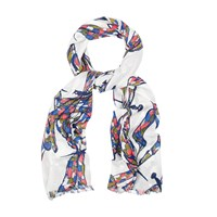 White Stuff Dancing Dragonfly Scarf Multi