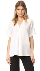 Vince Double V Blouse Off White