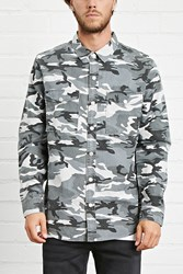 Forever 21 Camo Print Button Front Jacket