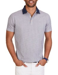 Nautica Classic Fit Patterned Polo Shirt Marshmallow White