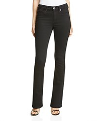 True Religion Jennie Curvy Bootcut Jeans In Jet Black Dau Jet Black
