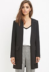 Forever 21 Longline Collarless Jacket