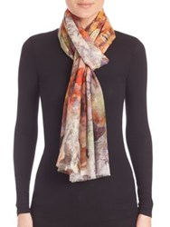 Bindya Mix Floral Cashmere And Silk Scarf Multi