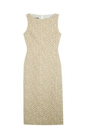 Rochas Gold Sheath Dress