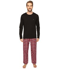 Tommy Hilfiger Flannel Sleep Set Brick Men's Pajama Sets Red