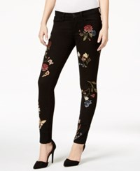 Buffalo David Bitton Faith Floral Black Rinse Skinny Jeans