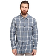 Vans Wayland Long Sleeve Flannel Blue Mirage Marshmallow Men's Clothing