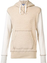 Junya Watanabe Comme Des Garcons Man Front Pockets Drawstring Hoodie Nude And Neutrals