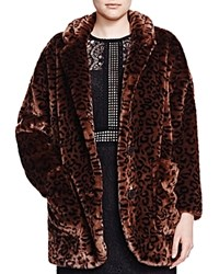 The Kooples Leopard Print Faux Fur Jacket