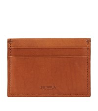 Shinola Leather Card Holder Unisex Beige