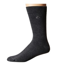 Sperry Solid Salt Wash Full Cushion Crew Black Men's Crew Cut Socks Shoes