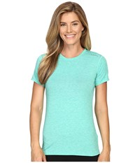 Brooks Distance Short Sleeve Top Heather Parque Women's Short Sleeve Pullover Blue