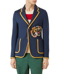 Gucci Tiger Patch Jacket Navy