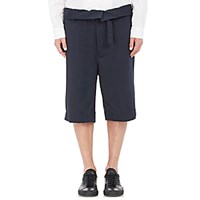Marni Men's Belted Wide Leg Shorts Navy