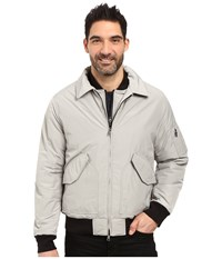 Nautica Military Bomber Jacket Seashore Grey Men's Coat Yellow