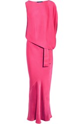 Maria Grachvogel Icon Asymmetric Satin Gown Pink