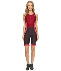 2Xu Perform Trisuit Barberry Carbon Purple Women's Clothing Red