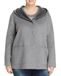 Marina Rinaldi Naiade Double Face Coat Medium Gray