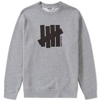 Undefeated Strike Vertical Crew Sweat Grey