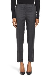 Boss Women's Tiluna8 Plaid Stretch Wool Slim Ankle Trousers