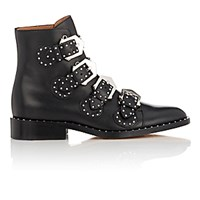 Givenchy Women's Studded Buckle Strap Ankle Boots Black