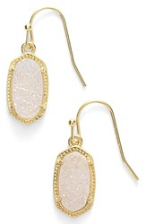 Kendra Scott Women's 'Lee' Small Drop Earrings Gold Iridescent Drusy