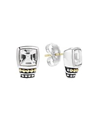 Lagos 18K Gold And Sterling Silver Glacier Stud Earrings With White Topaz White Silver