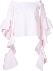 Ellery Off The Shoulder Top Pink And Purple