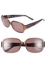 Women's Bcbgmaxazria 'Fabulous' 56Mm Sunglasses Brown Transparent