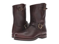Frye John Addison Engineer Dark Brown Smooth Pull Up Leather Men's Boots
