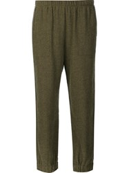 Raquel Allegra Cropped Sweat Pants Green