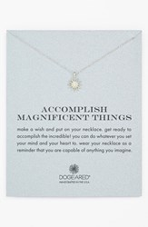 Women's Dogeared 'Accomplish Magnificent Things' Pendant Necklace Sterling Silver